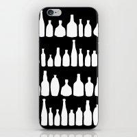 Bottles Black And White iPhone & iPod Skin