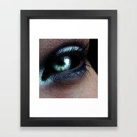 Dark Eye Framed Art Print