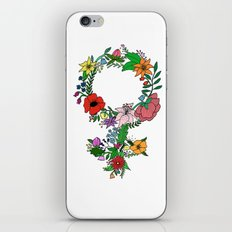 Feminist flower in color iPhone & iPod Skin