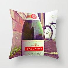 Urban wine bottle Throw Pillow