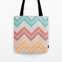 C13 pattern series - pixel chevron Tote Bag