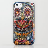 iPhone 5c Cases featuring Magic  graphic owl  painting by oxana zaika