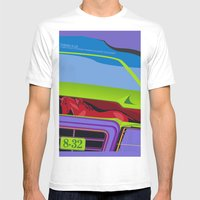 Lancia Thema Mens Fitted Tee White SMALL