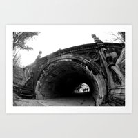 Into The Tunnels Art Print
