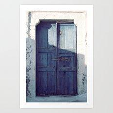 Santorini Door I Art Print