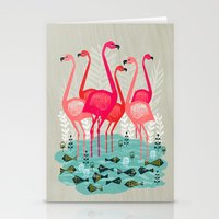 Flamingos By Andrea Laur… Stationery Cards
