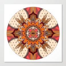 Mandala Crest Canvas Print