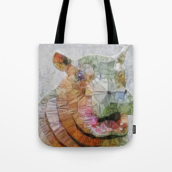 abstract hippo Tote Bag