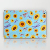 Sunflowers & Dragonflies Laptop & iPad Skin