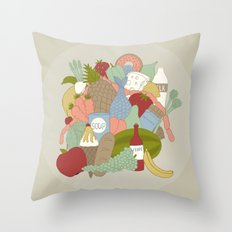 GROCERY BAG Throw Pillow