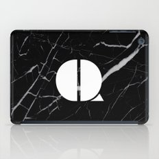 Black Marble - Alphabet Q iPad Case