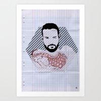 Beard02 Art Print