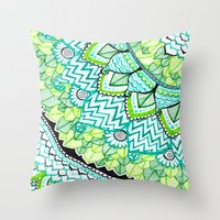 Sharpie Doodle 3 Throw Pillow