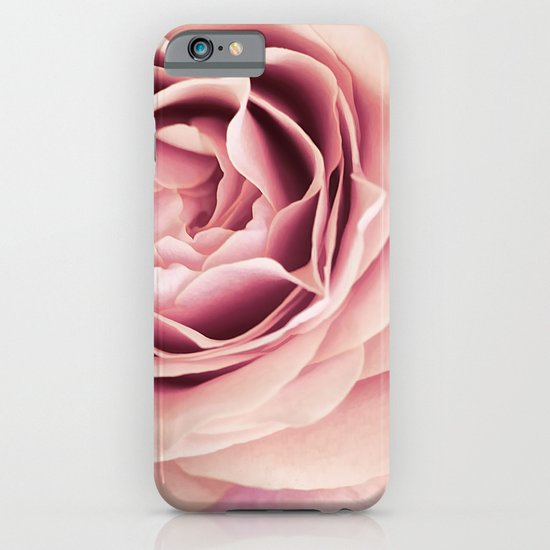 My Heart is Safe with You, My Friend - pale pink rose macro iPhone & iPod Case