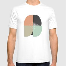 untitled_02 SMALL White Mens Fitted Tee