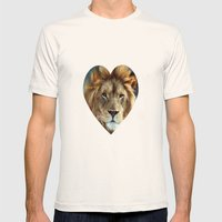LION - Aslan Mens Fitted Tee Natural SMALL