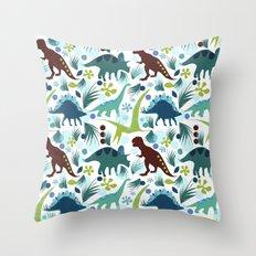 Dinosaur Days Throw Pillow