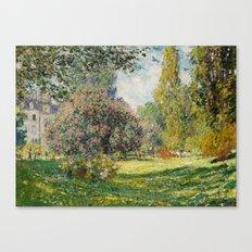 The Parc Monceau by Claude Monet Canvas Print