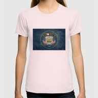 Utah State Flag - Vintag… Womens Fitted Tee Light Pink SMALL