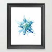 Starfish Waters II Framed Art Print