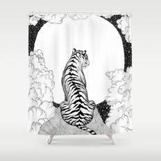 Tiger Moon Shower Curtain