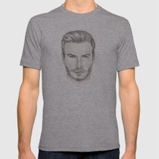 David Beckham Mens Fitted Tee Athletic Grey SMALL