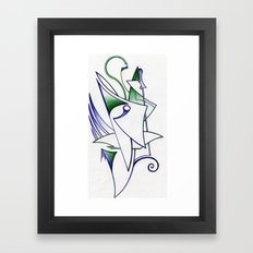 Blue Green Framed Art Print