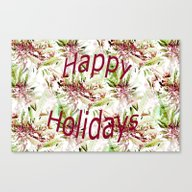 Happy Holidays To The St… Canvas Print