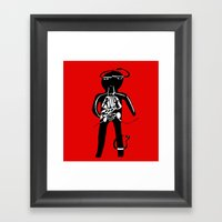 body Framed Art Print