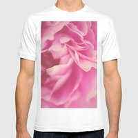 Pink Peony #2 Mens Fitted Tee White SMALL