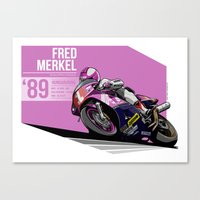 Fred Merkel - 1989 Hungaroring Canvas Print