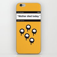 No028 MY The Stranger Book Icon poster iPhone & iPod Skin