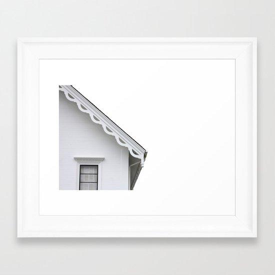 The White Farmhouse Framed Art Print