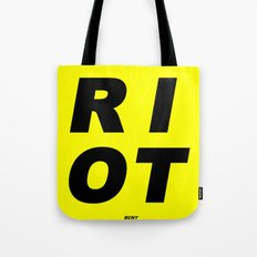 RIOT (BLACK AND YELLOW) Tote Bag