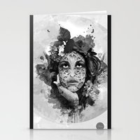 Abstract Portrait Blk/Wht Stationery Cards