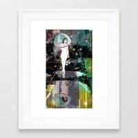 Framed Art Print featuring BUBBLE RAIN by Stephan Parylak
