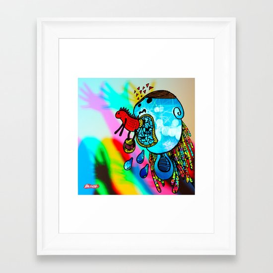 Te voy a comer // I will eat you Framed Art Print