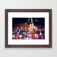 Rigging Up the Lights Framed Art Print
