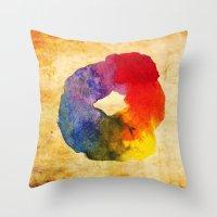 Colors Series 1 : Circle of Life Throw Pillow