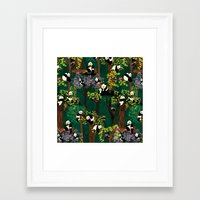Both Species Of Panda - … Framed Art Print
