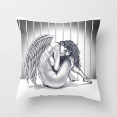 Insecure Angel Throw Pillow
