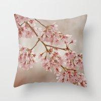 Cherry Float Throw Pillow