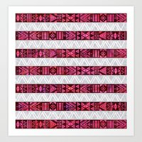 Tribal America {STRIPES} Art Print