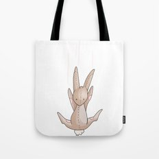 Falling Bunny 3 - Series, Nursery Print Tote Bag