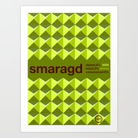 Smaragd Single Hop Art Print
