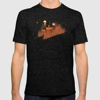 Grains Mens Fitted Tee Tri-Black SMALL