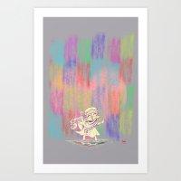 MAMA OUDA WHEN IT RAINed Art Print