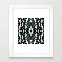Art Deco Zoom Mint Framed Art Print