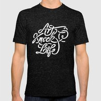 art knock life Mens Fitted Tee Tri-Black SMALL
