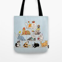 Cats Pyramid Tote Bag